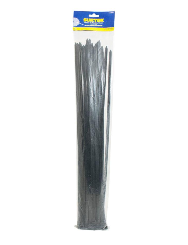 Cincho plástico 450 x 4.8mm 25 piezas negro