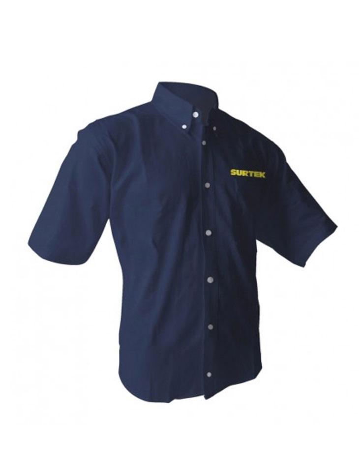 Camisa Azul manga Corta Talla L