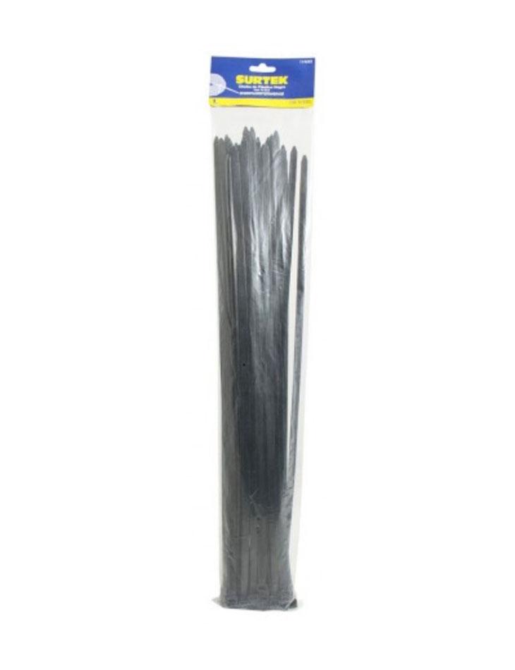Cincho plástico 300 x 4.6mm 50 piezas negro