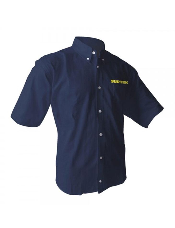 Camisa Azul manga Corta Talla M